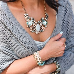 Chloe + Isabel Aquamarine Statement Necklace